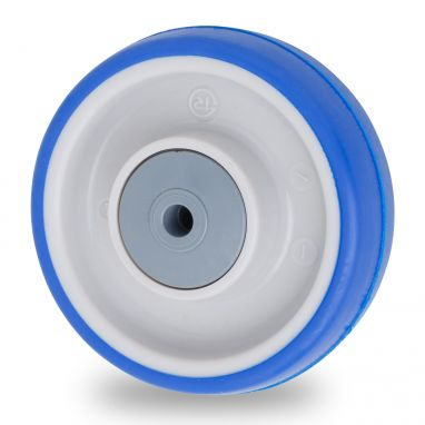 wheel, Ø 80mm, injected polyurethane, 85KG